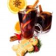 Red Hot Christmas mulled wine — Stock Photo #33899521