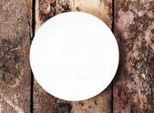 White empty plate — Stock Photo