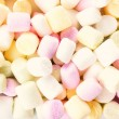 Stock Photo: Pile of small colored puffy marshmallows may use as background