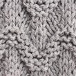 Gray  knitting background texture. — Stock Photo