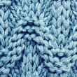 Blue knitted sweater wool texture background — Stock Photo
