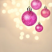 Christmas ornaments with shiny festive balls hanging — Stock Photo