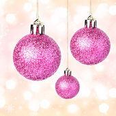 Christmas ornaments with shiny festive balls — Stock Photo