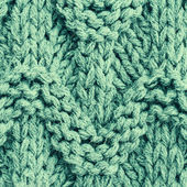 Vintage green knitting background texture. — Stock Photo