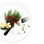 świątecznego stołu — Zdjęcie stockowe