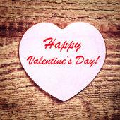 Vintage valentines dag kaart — Stockfoto