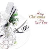 Elegant Christmas table — Foto Stock