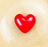 Güzel kırmızı kalp — Stok fotoğraf