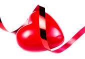 Velké červené srdce — Stock fotografie