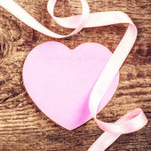 Soft Pink Paper Heart — Stock Photo
