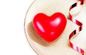 Büyük kırmızı kalp — Stok fotoğraf