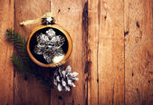 Vintage Christmas decorations — ストック写真