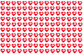 Repeating pattern of Valentine's Day red Hearts — Stock Photo