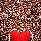 Love Coffee at Valentine's Day — Stock Photo