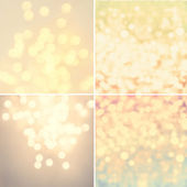 Set of Abstract natural blur defocussed backgrounds — Stock Photo