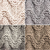 Set of Knitted Woolen textile background for winter time — Stock Photo
