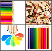 Set of Colour pencils isolated on white background close up — Stock Photo