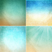 Set of Water colored recycled paper texture — Stock Photo