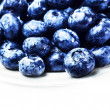 Fresh Blueberries isolated on white background close up. — Stock Photo #41447699
