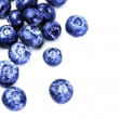 Stock Photo: Fresh Blueberries isolated on white background