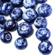 Stock Photo: Fresh Blueberries isolated on white background close up.