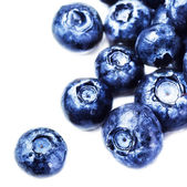 Fresh Blueberries isolated on white background close up. — Stock Photo