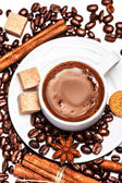 Coffee cup with biscotti — Stock Photo
