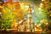 City Hall in autumn — Stock Photo