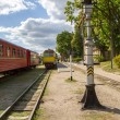 Trains at the station — Stock Photo