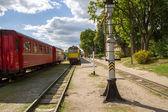 Trenes en la estación — Foto de Stock