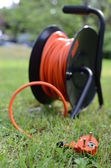 Orange electric cable — Stock Photo