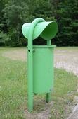 Public litter bin — Stock Photo