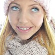 Stock Photo: Young womwearing winter clothing