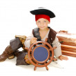 Boy dressed as pirate Jack Sparrow — Stock Photo #25637041