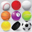 Sport balls vector illustration eps 8 — Stock Vector