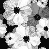 ロマンチックな花の背景 — ストックベクタ