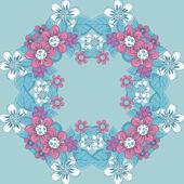 Seamless mönster med blommig prydnad — Stockvektor