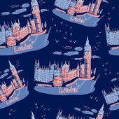 Big ben und haus des parlaments, london, uk — Stockvektor