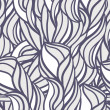 Abstract pattern with curl and swirl — Stok Vektör