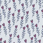 Cute valentine's seamless pattern with hearts — 图库矢量图片