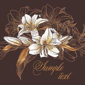 Vackra seamless mönster med liljor — Stockvektor