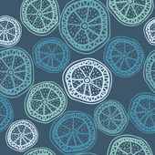 Seamless pattern with round slices — Vettoriale Stock