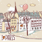 Paris urban sketch — Stockvector