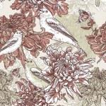 Flowers with bird illustration — Stock Vector #26135217