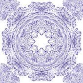 Sömlös vektor prydnad mönster med cirklar — Stockvektor