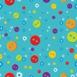 Seamless pattern with buttons — Stock Vector #26614845