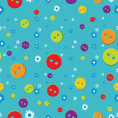 Seamless pattern with buttons — Stock Vector