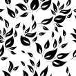 A seamless black and white leaf pattern. — Stock Vector #26707057