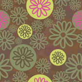 Trendy Vector Floral Background Stylish endless texture with flowers. Vector background for textile design in vintage style. Wallpaper, background — Stock Vector