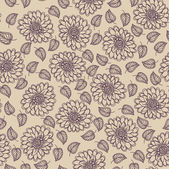 Seamless floral vector pattern, Wallpaper, Vector Background — Stock Vector